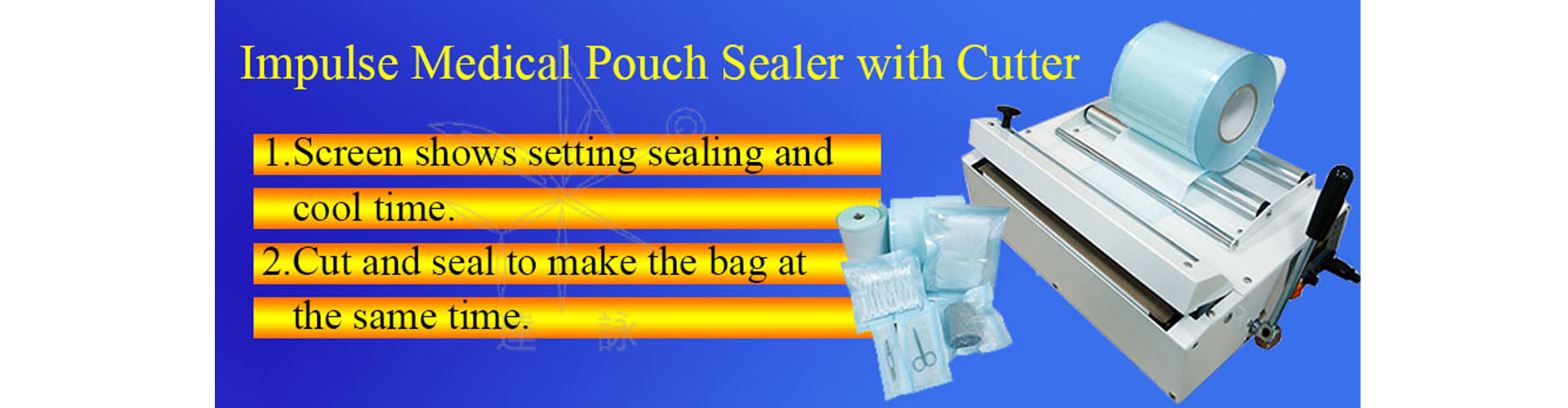 impulse medical pouch sealer with cutter